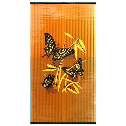 Инфракрасный обогреватель Бархатный сезон Бабочки желтые на оранжевом желтый/оранжевый