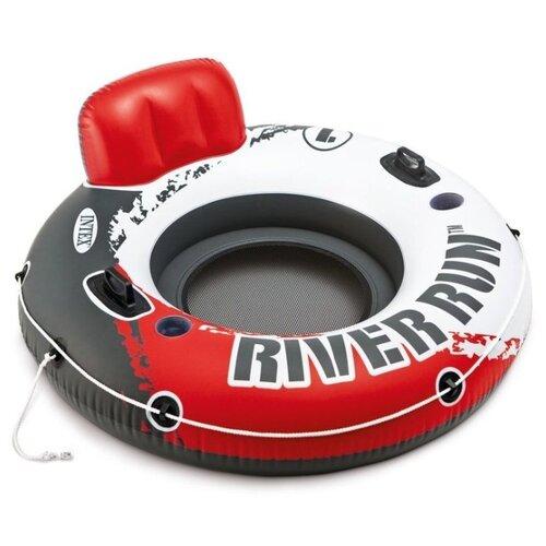 Ватрушка Intex River Run 1 135x135 см белый/красный