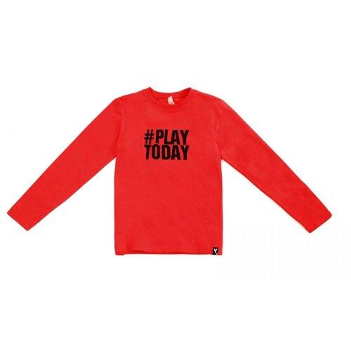 Купить Лонгслив playToday размер 122, красный, Футболки и майки