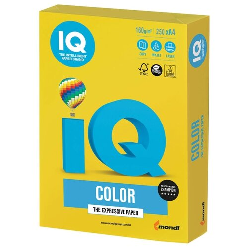 Фото - Бумага IQ Color А4 160 г/м² 250 лист. горчичный IG50 1 шт. бумага iq color а4 color 120 г м2 250 лист кораллово красный co44 1 шт
