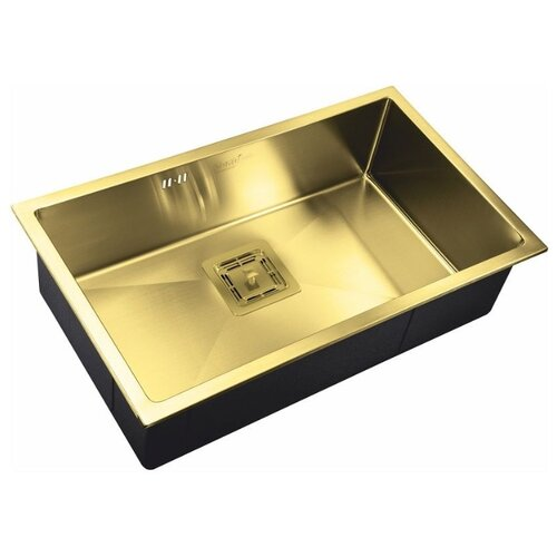 Фото - Врезная кухонная мойка 74 см ZorG PVD SZR-7444 BRONZE бронза врезная кухонная мойка 78 см zorg szr 78 2 51 r bronze бронза