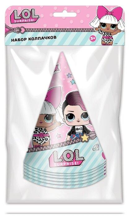ND Play Набор колпаков L.O.L. 280525 (6 шт.) розово-мятный