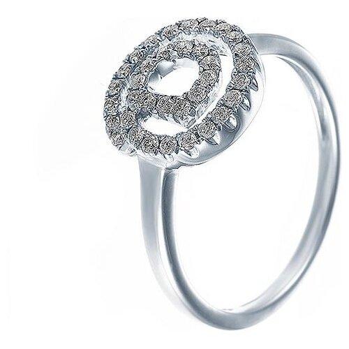 JV Кольцо с 35 бриллиантами из белого золота AAS-3956R-KO-WG, размер 18.5