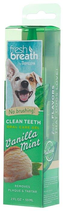 Гель Tropiclean Fresh Breath для чистки зубов с ванилью и мятой для собак 59 мл