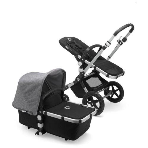 Универсальная коляска Bugaboo Cameleon3 Plus (2 в 1) alu/black/grey melange, цвет шасси: серебристый