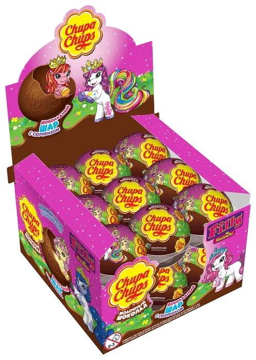Шоколадное яйцо Chupa Chups Лошадки Filly с игрушкой, молочный шоколад, коробка