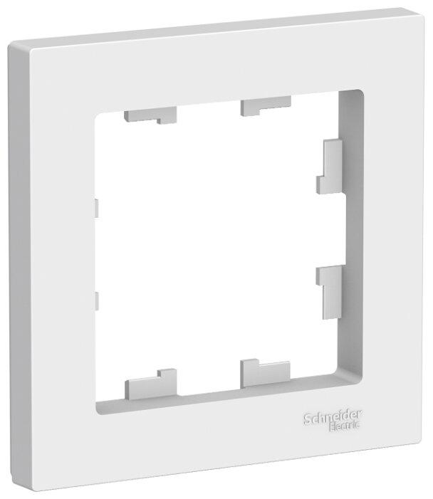 Рамка 1п Schneider Electric AtlasDesign ATN000101, белый — купить по выгодной цене на Яндекс.Маркете