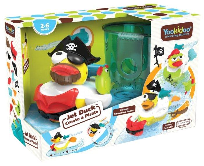 Игрушка для ванной Yookidoo Утка-пират с водометом и аксессуарами (40170)