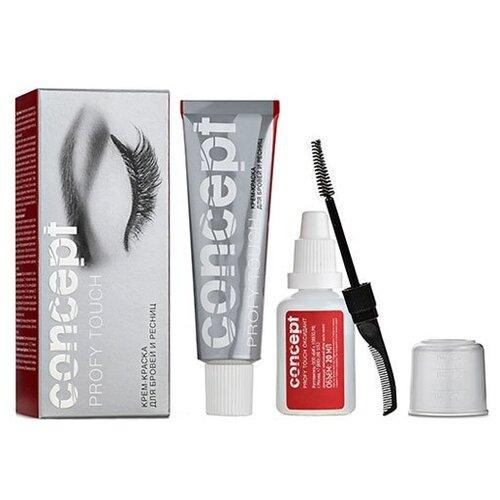 Купить Concept Крем-краска для бровей и ресниц Profy Touch 30 мл графит
