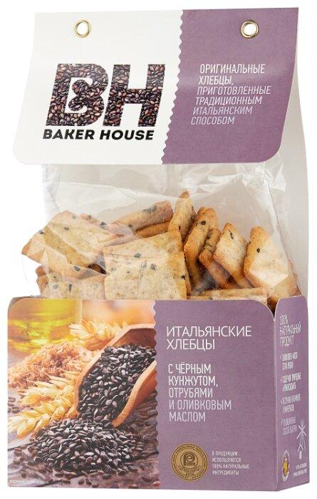 Хлебцы итальянские пшеничные BAKER HOUSE с черным кунжутом, отрубями и оливковым маслом 250 г