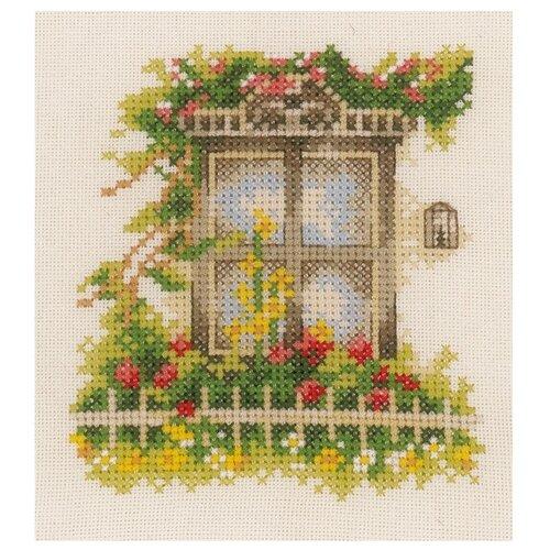 Купить Lanarte Набор для вышивания Окно в цветах - 1 11 x 12 см (0162523-PN), Наборы для вышивания