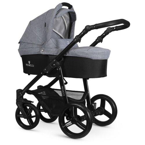 Купить Универсальная коляска Venicci Soft (2 в 1) med grey/black frame, цвет шасси: черный, Коляски