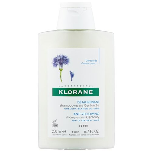 Klorane шампунь Anti-Yellowing with Centaury 200 мл klorane шампунь oil control shampoo with nettle 200 мл