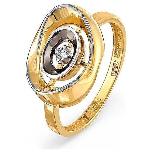 Фото - KABAROVSKY Кольцо с 1 бриллиантом из жёлтого золота 11-21002-1000, размер 17.5 kabarovsky кольцо с 1 бриллиантом из жёлтого золота 11 2999 1000 размер 18