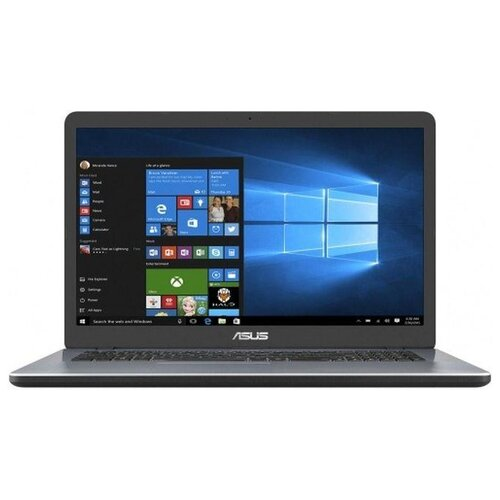 Купить Ноутбук ASUS VivoBook 17 F705MA-BX121T (Intel Pentium N5000 1100MHz/17.3 /1600x900/4GB/256GB SSD/DVD нет/Intel UHD Graphics 605/Wi-Fi/Bluetooth/Windows 10 Home) 90NB0IF2-M02490 серый