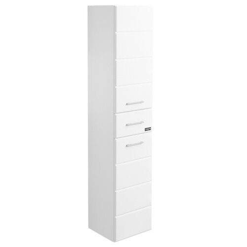 Шкаф-пенал для ванной СанТа Омега 30 507002, (ШхГхВ): 30х30х150 см, белый