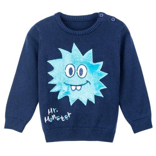 Джемпер playToday размер 86, темно-синий,голубой,белый джемпер для новорожденных babyglory superstar цвет синий ss001 09 размер 86