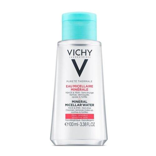 Vichy мицеллярная вода с минералами для чувствительной кожи, 100 мл vichy набор для путешествий vichy ideal soleil 3 30 100 30 30 10 мл