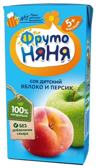 Сок ФрутоНяня из яблок и персиков, с 5 месяцев