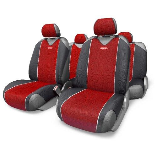 Комплект чехлов AUTOPROFI CRB-802 черный/красный autoprofi crb 402pf carbon plus