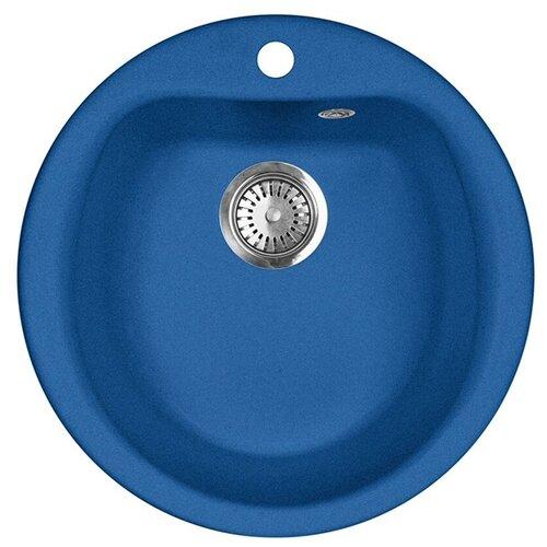 Врезная кухонная мойка 50.5 см А-Гранит M-07 синий врезная кухонная мойка 56 см а гранит m 56 синий