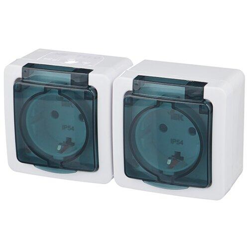 Розетка IEK ГЕРМЕС PLUS ERMP22-K03-16-54-EC,16А, с заземлением, белыйРозетки, выключатели и рамки<br>