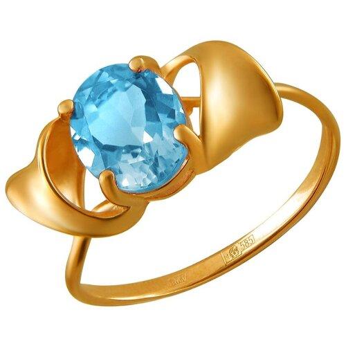 Эстет Кольцо с 1 топазом из красного золота 01К3111145-1, размер 17 фото