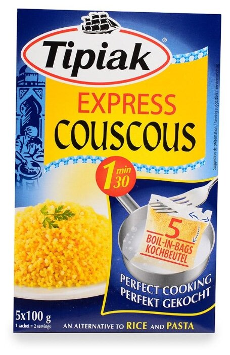 Tipiak Кускус Express в пакетиках 5х100 г