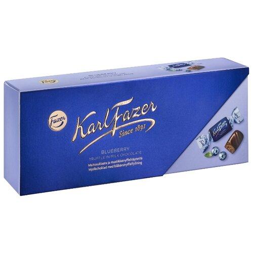 Набор конфет Fazer с трюфельной начинкой со вкусом черники, молочный шоколад, 270 г