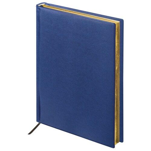 Купить Ежедневник BRAUBERG Iguana недатированный, А5, 160 листов, темно-синий, Ежедневники, записные книжки