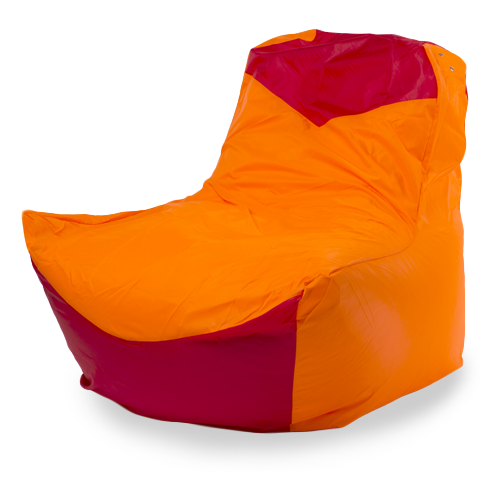 Пуффбери кресло-мешок Классическое оранжевый/красный оксфорд