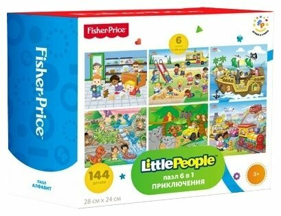 Набор пазлов Fisher-Price Little People Приключения (FP 37787)