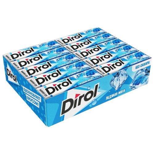 Жевательная резинка Dirol Cadbury Ледяная мята без сахара 30 шт dirol жевательная резинка мята и фрукты без сахара 30 пачек по 13 6 г