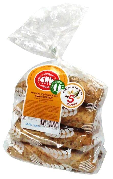 Сибхлеб Изделия хлебобулочные Шведские 5 семян цельнозерновые 300 г