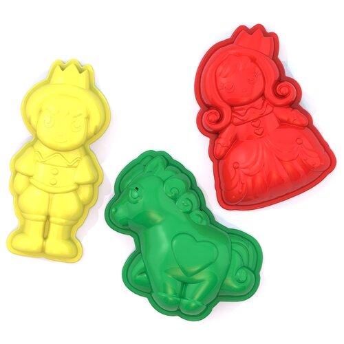 Купить Набор Нордпласт 431695 Сказка желтый/красный/зеленый, Наборы в песочницу