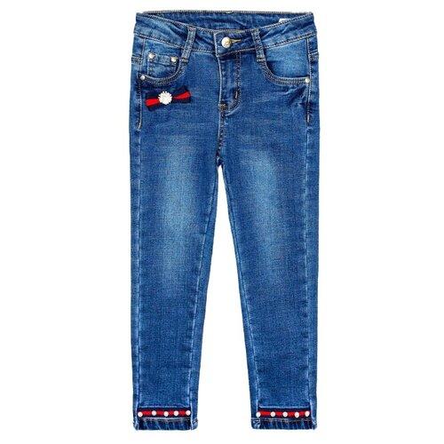Фото - Джинсы playToday размер 104, белый/синий/красный/зеленый джинсы playtoday размер 104 белый синий красный зеленый