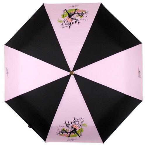 Зонт автомат FLIORAJ Premium Золотой брелок 16021 FJ розовый/черный зонт автомат flioraj premium золотой брелок кошки черный