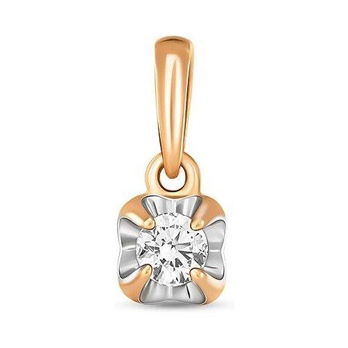 Фото - ЛУКАС Подвеска с 1 бриллиантом из красного золота P01-D-SOL28-010-G2 лукас подвеска с 19 бриллиантами из красного золота p01 d 33651