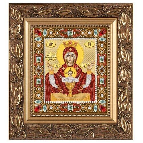 Купить NOVA SLOBODА Набор для вышивания бисером иконы Богородица Неупиваемая чаша 13 х 15 см (Д6004), Наборы для вышивания