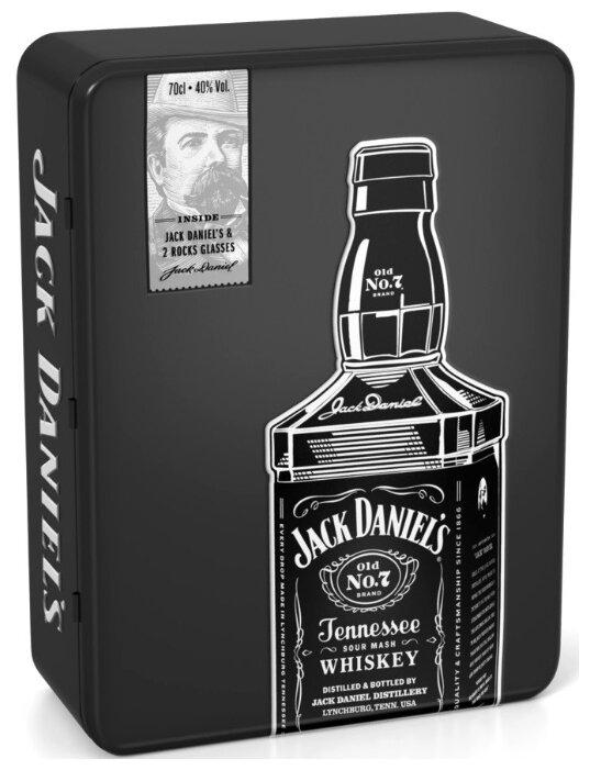 Виски Jack Daniel's Old No.7 Tennessee, 0.7 л, подарочный набор