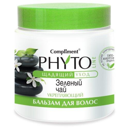 Compliment бальзам для волос Phyto Line Зеленый чай укрепляющий, 500 мл