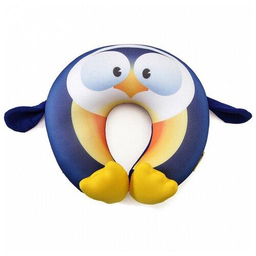Подушка для шеи Travel Blue Fun Pillow - Penguin, синий/желтый подушка для путешествий travel blue tranquility pillow с эффектом памяти цвет фиолетовый 28 х 27 х 12 см