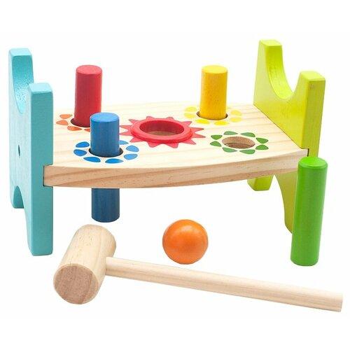 Стучалка Мир деревянных игрушек Шарик и гвоздики деревянные игрушки мир деревянных игрушек мди стучалка шарики