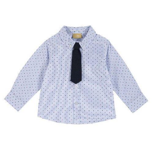 Купить Рубашка Chicco размер 104, синий, Рубашки