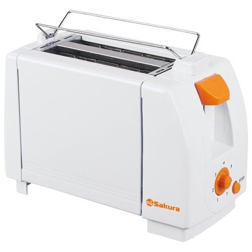 Тостер Sakura SA-7600A , белый/оранжевый