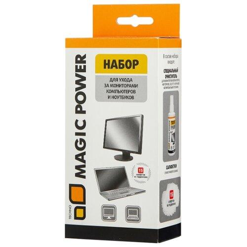 Фото - Набор MAGIC POWER MP-836 чистящая жидкость+сухие салфетки 15 шт. для экрана промывочная жидкость 1 л