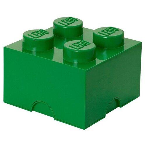 Контейнер LEGO 2х2 Knobs 25х25х18 см (4003) темно-зеленый