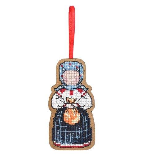 Созвездие Набор для вышивания крестом на основе Добрая дорога. Подорожница 9 х 4,5 см (О-107) созвездие набор для вышивания крестом на основе новогодняя игрушка утренняя звезда 7 5 х 7 5 см ик 008