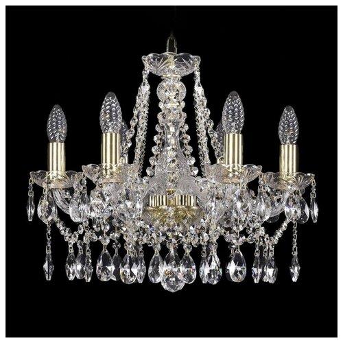 Люстра Bohemia Ivele Crystal 1413 1413/6/165/G, E14, 240 Вт люстра bohemia ivele crystal 1413 1413 6 141 g leafs e14 240 вт