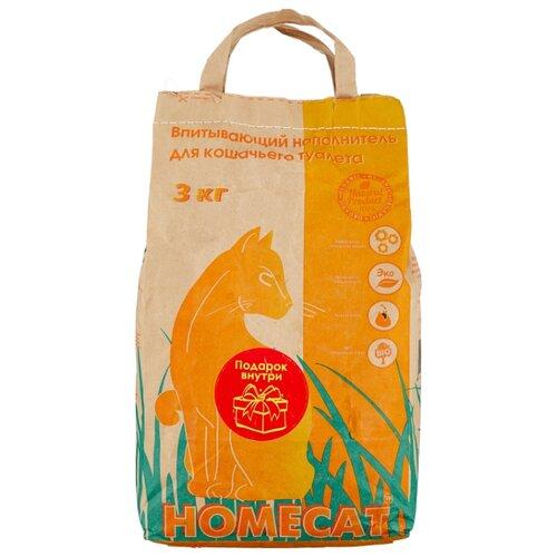 Наполнитель Homecat Впитывающий (3 кг) homecat homecat древесный впитывающий наполнитель с мелкими гранулами 16 л
